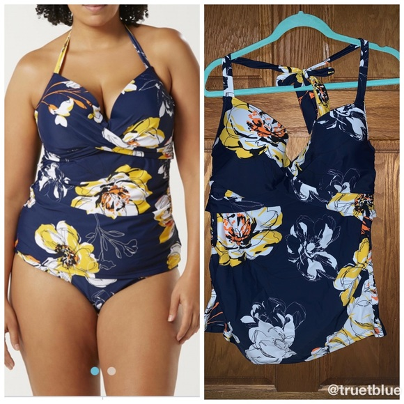 Jaclyn Smith Other - 🆕 Floral Tankini Top Sz 22W